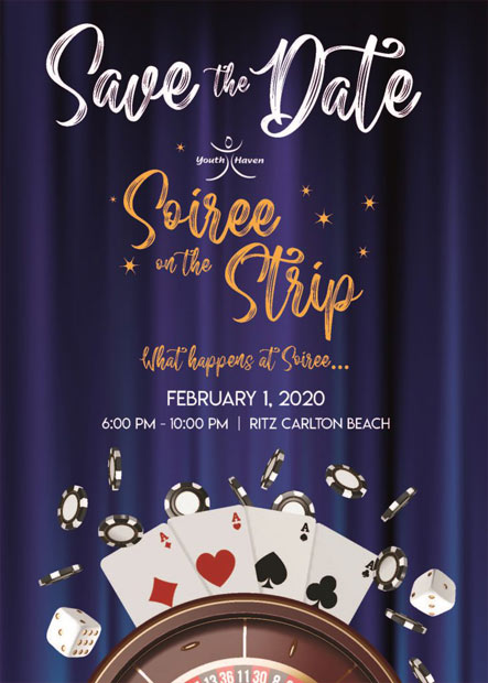 Youth Haven Soiree on the Strip Event Flyer | Youth Haven SWFL Youth Services
