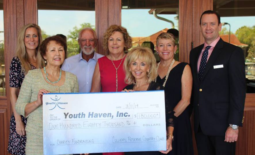 Youth Haven receives $180,000 donation from Collier's Reserve Country Club Members | Youth Haven News