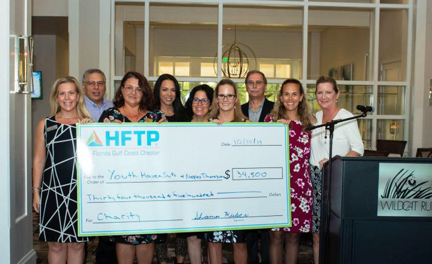 Youth Haven awarded $17,000 donation from HFTP – Florida Gulf Coast Chapter | Youth Haven News