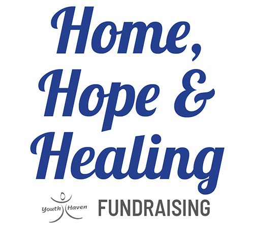 Home, Hope & Healing Fundraiser Logo | Youth Haven